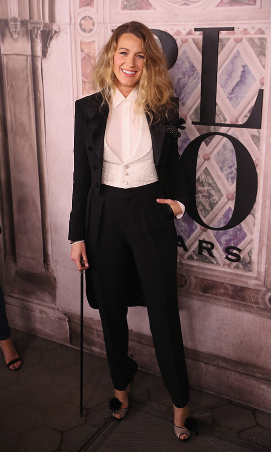 It suits her! Blake Lively continued her suiting streak at the Ralph Lauren 50h anniversary fete during New York Fashion Week at Bethesda Terrace on Sept. 7. 