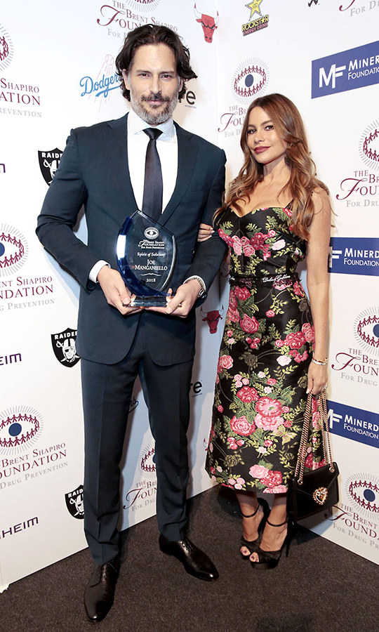 Sofia Vergara was on hand to celebrate her hubby, Joe Manganiello, as he received an honour for his sobriety at the Brent Shapiro Foundation Summer Spectacular at The Beverly Hilton Hotel on Sept. 7.