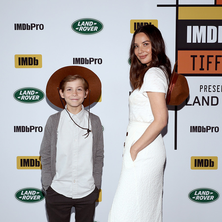 Jacob Tremblay and Olivia Munn did their best mountie chic at the The IMDb Studio at Bisha Hotel during TIFF on Sept. 8. 