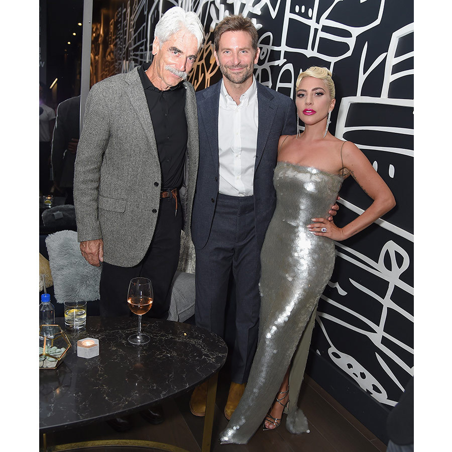 Bradley Cooper and Lady Gaga posed with Sam Elliott at the Entertainment Weekly bash on Sept. 8, taking to the town to let loose one day before the highly anticipated <em>A Star Is Born</em> premiere!