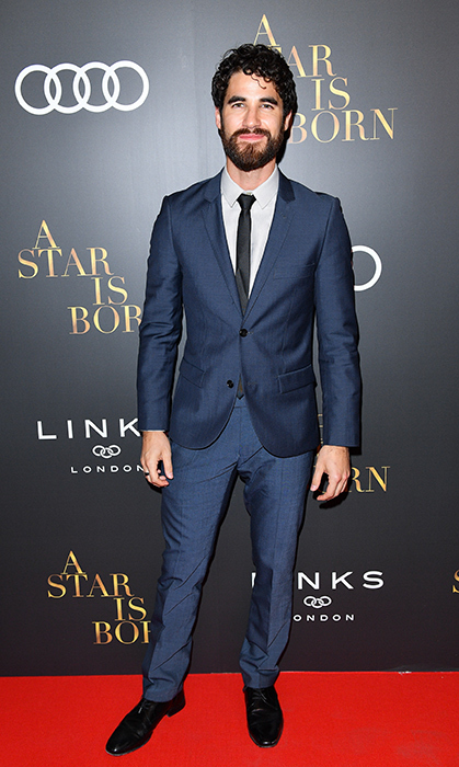 Darren Criss, star of <em>American Crime Story: The Assassination of Gianni Versace</em>, was dapper in blue.