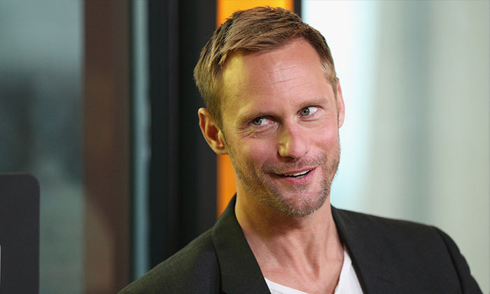Alexander Skarsgaard looked handsome as ever at the Nespresso and RBC House panel discussion for his film, <em>The Hummingbird Project</em>.