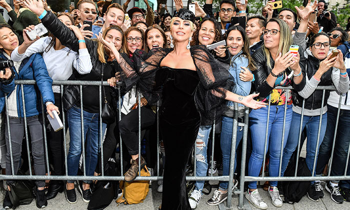 Lady Gaga knows how to work a carpet! She stunned in Armani Prive while greeting her incredible fans.