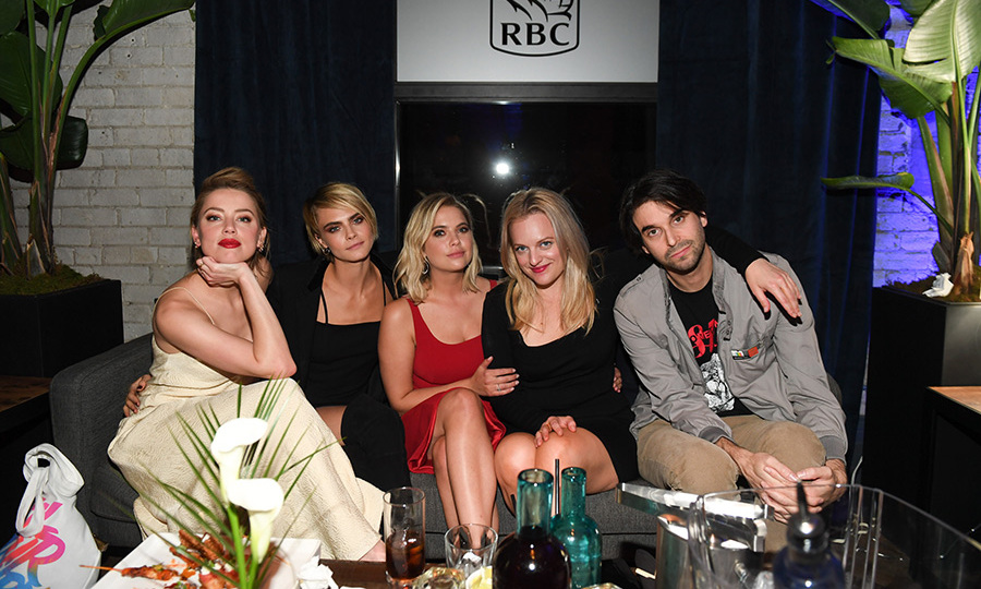 Cara and Ashley celebrated the release of their film <em>Her Smell</em> with co-stars Amber Heard and Elisabeth Moss.