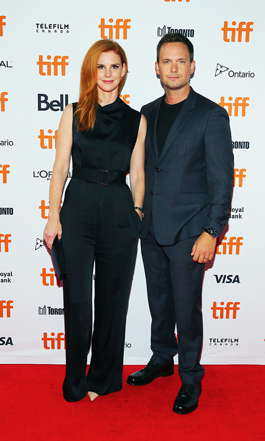 <h2>Sarah Rafferty and Patrick J Adams</h2>