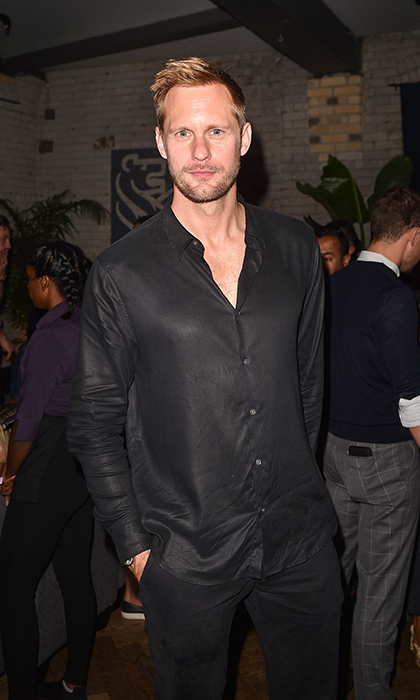 Alexander Skarsgard went monochromatic for the <em>A Million Little Pieces</em> after-party at RBC House.