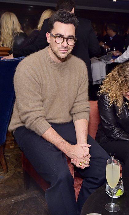 Dan Levy was on hand to celebrate his <em>Schitt's Creek</em> co-star Emily Hampshire at the fete for her latest, <em>The Death and Life of John F. Donovan</em>, hosted by Grey Goose at Soho House.