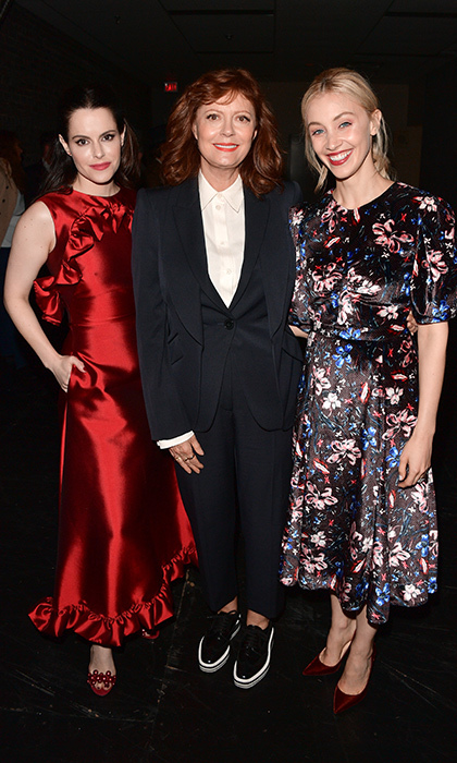 Emily Hampshire, Susan Sarandon and Sarah Gadon were dressed to impress at the Winter Garden Theatre for the premiere of <em>The Death and Life of John F. Donovan</em> on Sept. 10.