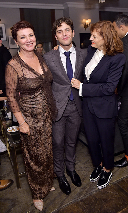 Filmmaker Xavier Dolan's mother Geneviève was surely brimming with pride at the Grey Goose-sponsored soiree for his latest, <em>The Death and Life of John F. Donovan</em>, at Soho House. The duo posed with the film's star, Susan Sarandon, who was doting on the young Canadian visionary.