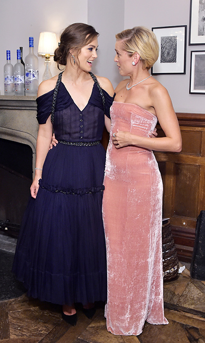 Keira Knightley and her co-star Denise Gough shared a laugh while celebrating <em>Colette</em> with Grey Goose at Soho House!