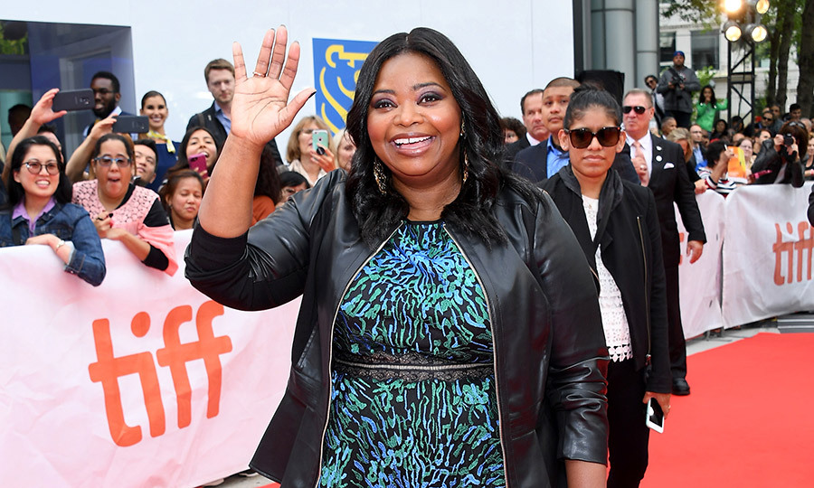 "The talented Octavia Spencer waved ""hello!"" to screaming fans at Roy Thomson Hall.