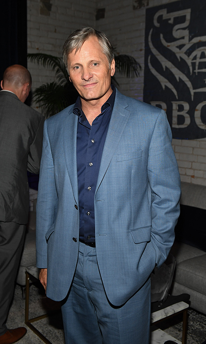 Viggo Mortensen looked handsome in a blue suit while partying at RBC House.