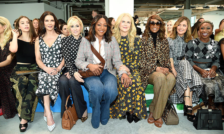 FROW goals! The Michael Kors show at New York Fashion Week on Sept. 12 had the most fun, star-studded front row. Catherine Zeta-Jones and her daughter Carys sidled up to <em>Transparent</em> star Judith Light and <em>Girls Trip</em>'s Tiffany Haddish, who held on to Nicole Kidman (fresh from her two premieres at TIFF!), who was perched beside Iman, Rose Byrne and singer Cynthia Erivo. 