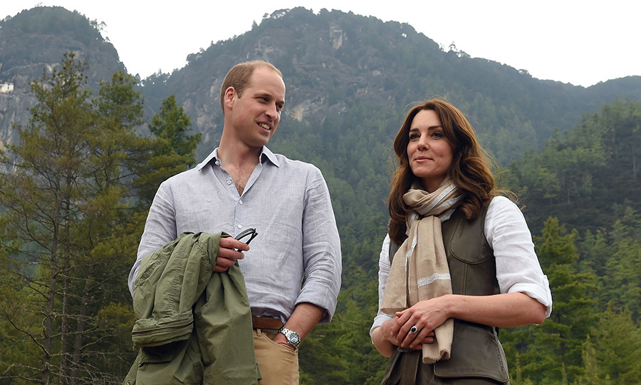 Prince William and Kate went for a hike while on tour in Bhutan.