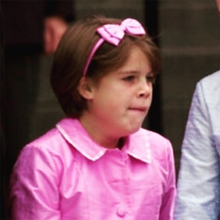 "Yawn! Eugenie, dressed in pink in the photo, shared a hilarious snap of her younger self trying to suppress a yawn, to no avail. ""Monday mornings..always graceful stifling a yawn on the steps of St Paul's in a full pink suit,"" she captioned the photo.