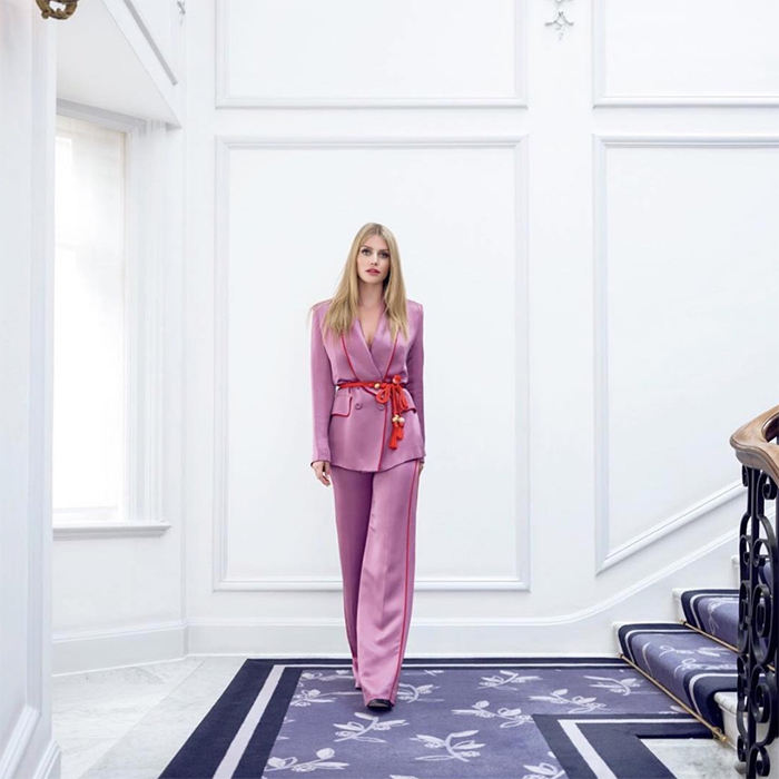 "As Lady Kitty Spencer's fashion career soars, the royal continues to debut back-to-back incredible looks – this time, she took inspiration from Beyoncé, who wore this amazing pantsuit in her music video for ""APES**T"". The daughter of former supermodel Victoria Aitken posed for a stunning shoot with <em>Vogue Japan</em>, donning an incredible lilac Peter Pilotto suit with a red sash.