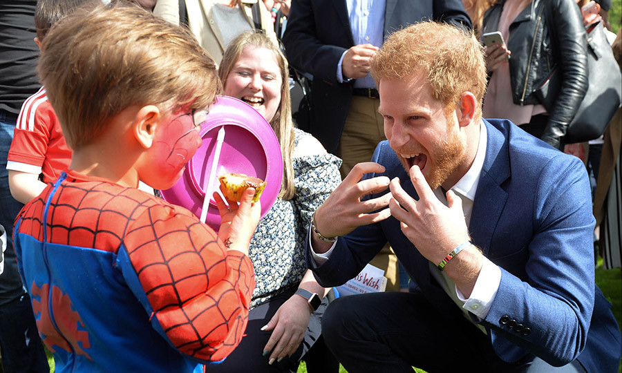 Prince Harry took on a little Spiderman during Buckingham Palace's Party at the Palace event.