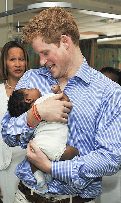 We can't get over the adorable moment between little baby Jean-Luc Jordan and Harry. The prince was visiting the children's ward at the Queen Elizabeth II hospital in Barbados back in 2010.