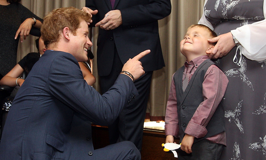Another unforgettable WellChild Award moment was this sweet interaction between Harry and winner Alex Logan.
