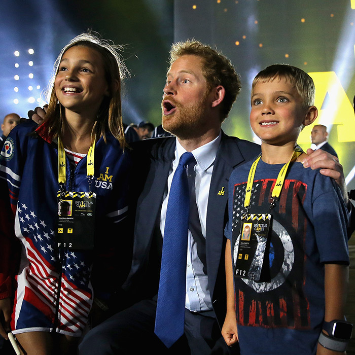 Orlando's Invictus Games was definitely a special affair, and we can't tell who was more excited – these two kiddos or Prince Harry!