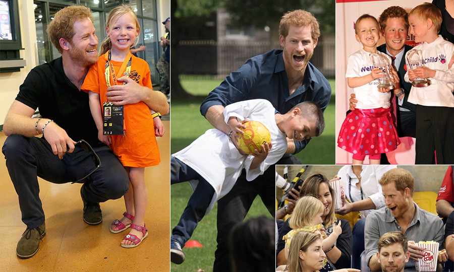Prince Harry is the ultimate charmer, not just to his adult admirers but also to the many children this British royal comes in contact with through his work with Sentebale, WellChild and more. Whether he's in Lesotho or the stands of his Invictus Games, the down-to-earth prince is likely to have an adorable moment with a new little friend. 