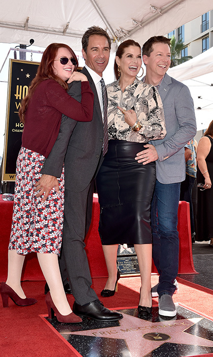 Eric McCormack celebrated getting his star on the Hollywood Walk of Fame with <em>Will & Grace</em> co-stars Megan Mullally, Debra Messing and Sean Hayes.