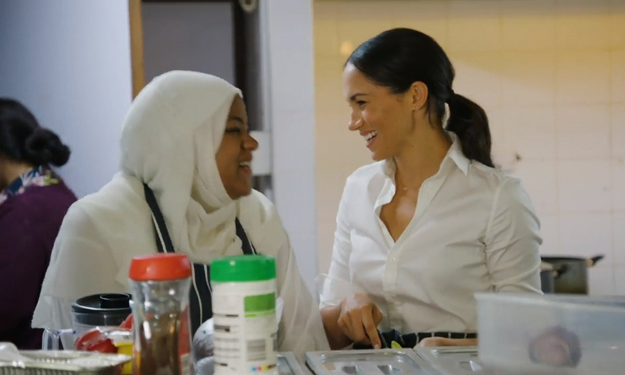Meghan bonded with the women at the kitchen since meeting in January.