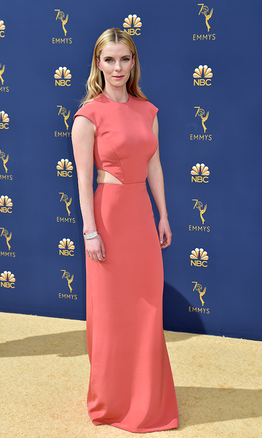 Betty Gilpin in Vera Wang