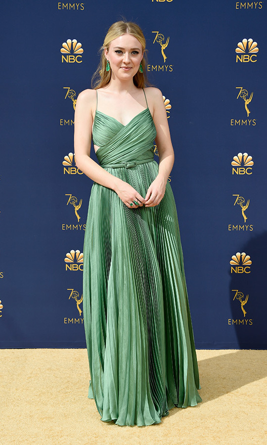 Dakota Fanning in Dior couture