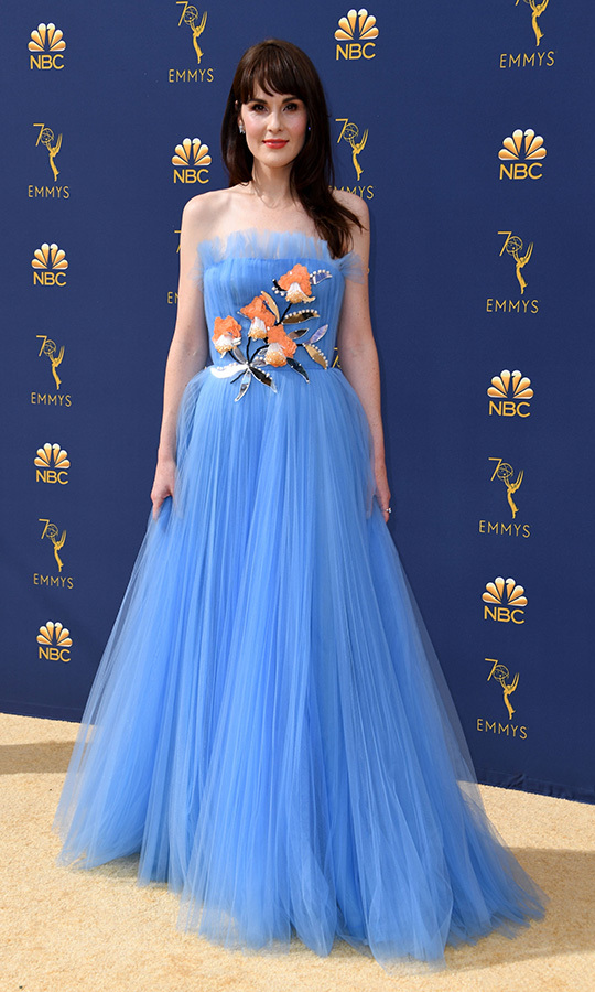 Michelle Dockery in Carolina Herrera