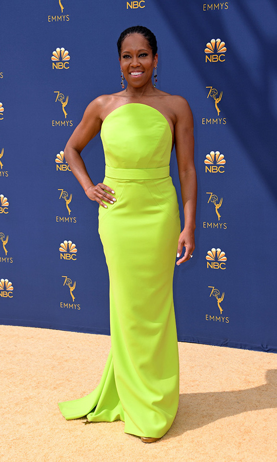 Regina King in Christian Siriano