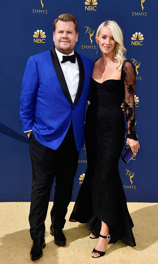 <h2>James Corden and Julia Carey</h2>