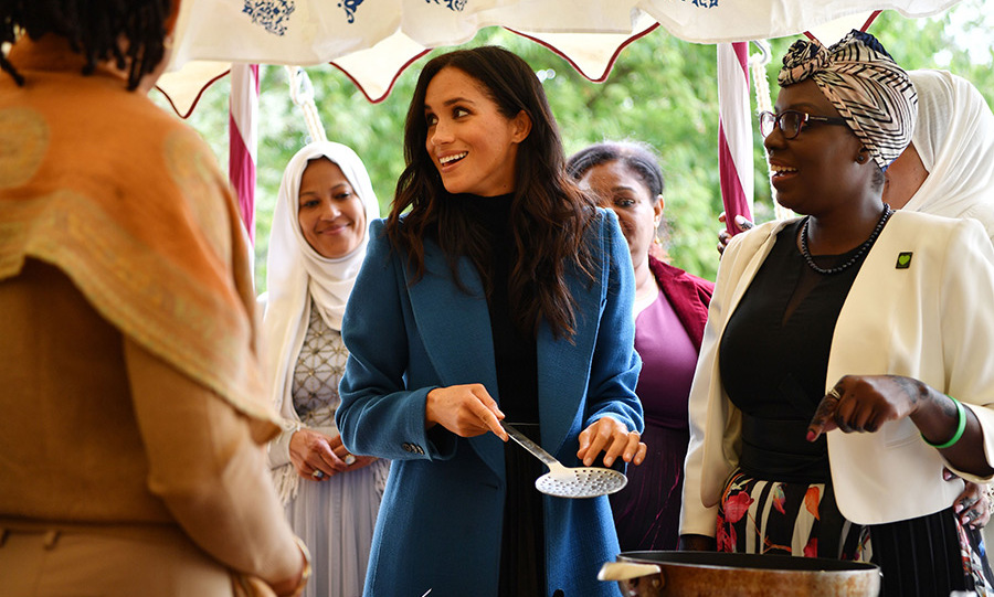 "In the foreword she penned for cookbook, Meghan explained why this project to help the women affected by the Grenfell Tower fire is so important. ""Within the kitchen's walls, there exists not only the communal bond of togetherness through sharing food, but also a cultural diversity that creates what I would describe as a passport on the plate: the power of a meal to take you places you've never been, or transport you right back to where you came from,"" she said. ""Through this charitable endeavour, the proceeds will allow the kitchen to thrive and keep the global spirit of community alive. With the support of dynamic women from all walks of life, we have come together with a united vision to empower other women to share their stories through food.""
