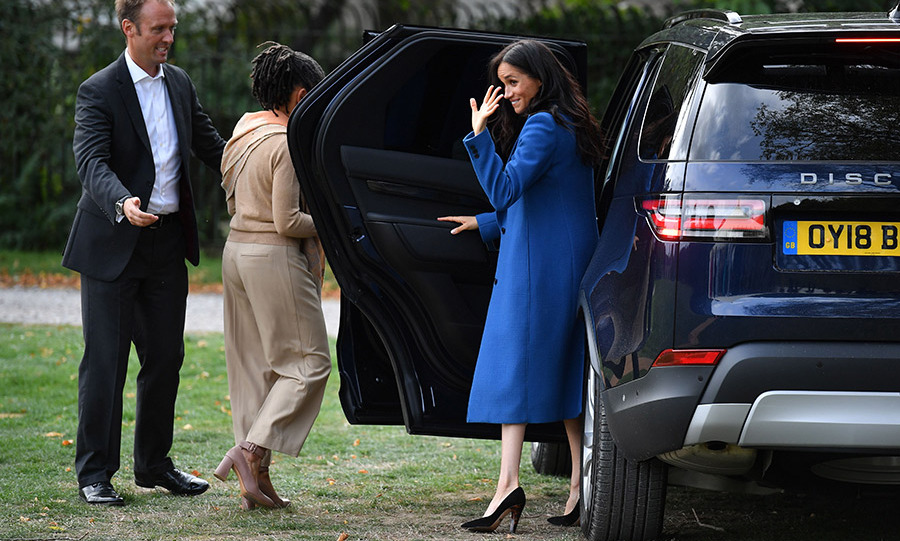 "The Duchess of Sussex waved goodbye one last time to the group that meant so much to her as she, her surprise guest Doria and Prince Harry got into their Range Rover. <em>Together: Our Community Kitchen</em> is already topping book lists and is <a href=""https://www.amazon.ca/Together-Community-Cookbook-Hubb-Kitchen/dp/1984824082/ref=sr_1_1?ie=UTF8&qid=1537456344&sr=8-1&keywords=together+our+community+kitchen"" target=""_blank"">available for pre-order on Amazon.ca</a>.