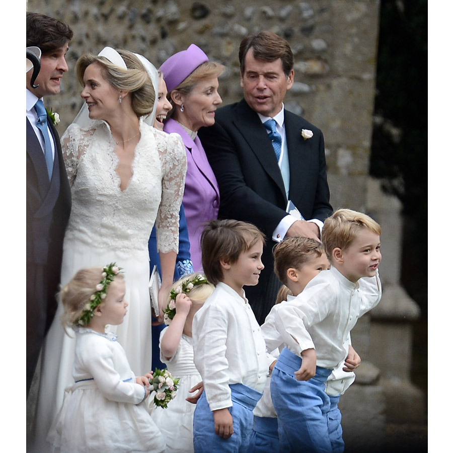 Prince George hammed it up between photos!