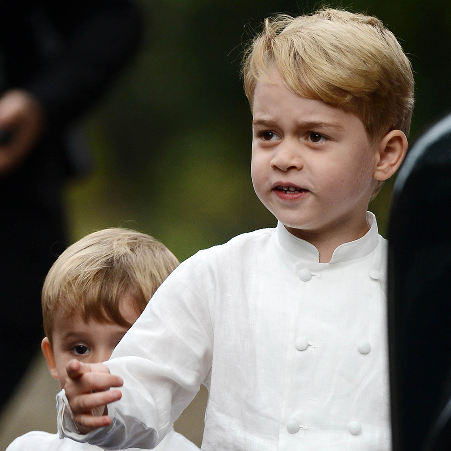 Prince George was not impressed by whatever he saw!