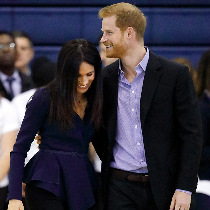 Meghan Markle and Prince Harry got cute on the court during the Coach Core Awards.
