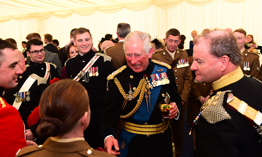 Prince Charles was all smiles while attending a Consecration Service at Bramham Park on Sept. 22 in Leeds. The Prince of Wales presented a new guidon to the Queen's own Yeomanry.