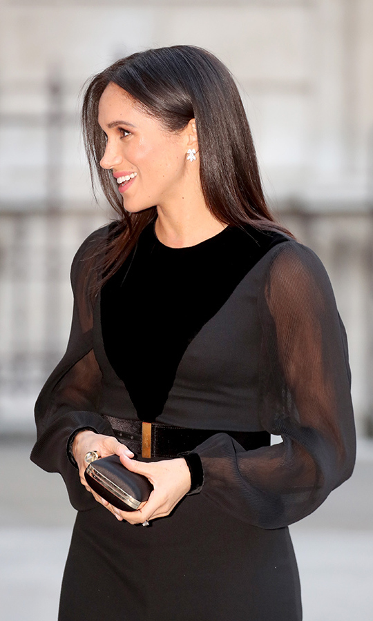 Meghan was all smiles as she arrived to view the exhibit, which boasts 200 pieces of artwork from over 500 years in Micronesia, Polynesia and Melanesia. It's the perfect stop before her 15-day overseas tour with Prince Harry.