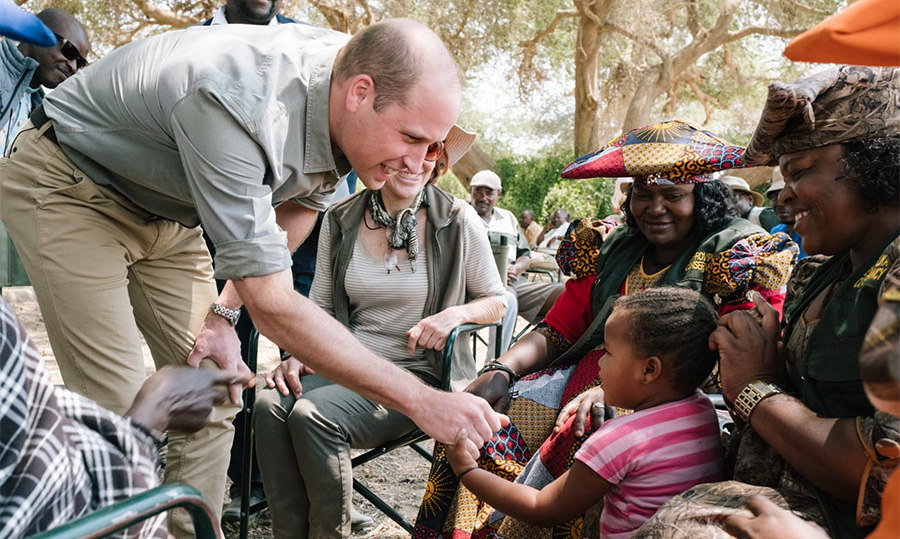 Prince William met the littlest members of the Kunene People's Park Initiative. 