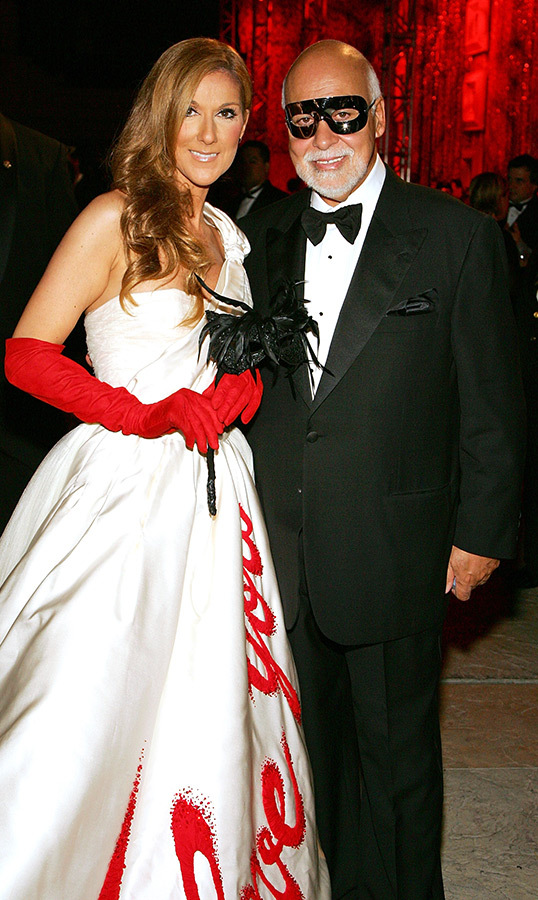 Celine and her late husband, Rene Angelil, had some fun at a masquerade-themed party at Caesars Palace on Sept. 10, 2007 in Las Vegas. It was to say goodbye to her show <em>A New Day</em>..., which closed on Dec. 15 of that year.