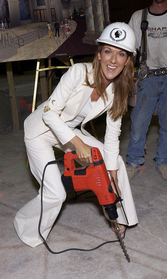 Sixteen years ago, The Colosseum in Caesars Palace was built <em>specifically</em> for <em>A New Day...</em>, Celine's first residency. So naturally, being the fun-loving woman she is, she donned a hard hat and picked up some tools to chip in!