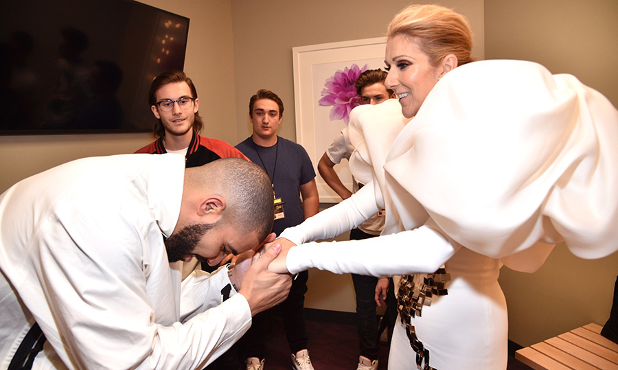 Two Canadian icons in one room! Drake bowed down to Queen Celine at the 2017 Billboard Music Awards.