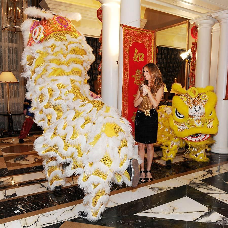 Happy Lunar New Year! Celine enjoyed the festive celebration at the Octavius Tower Grand opening in Caesars Palace back in 2012.