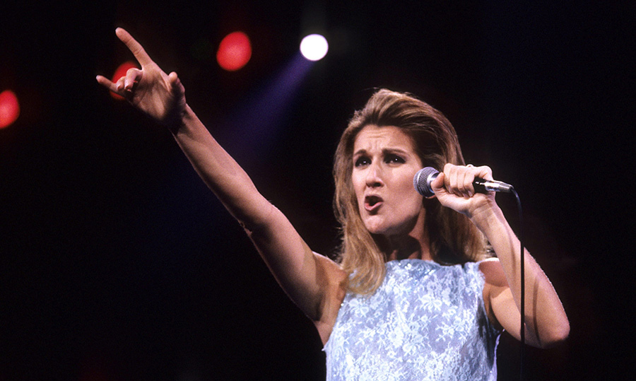 Celine belted out a note at the 1997 Andre Agassi Fundraiser, where she performed alongside Elton John.