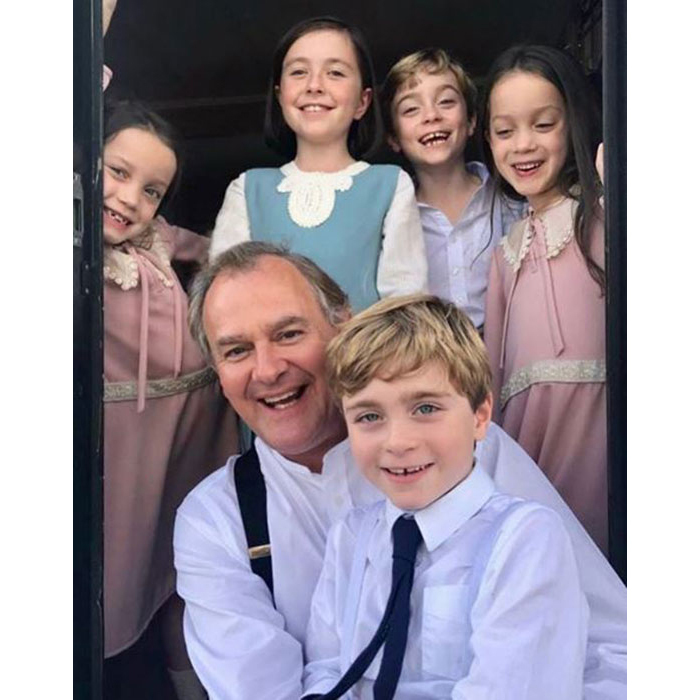 <h2>Hugh Bonneville and the Downton Abbey kids</h2>