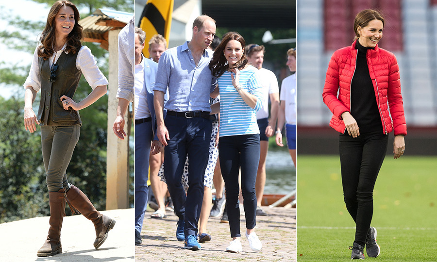 "The <a href=""https://ca.hellomagazine.com/tags/0/kate-middleton""><strong>Duchess of Cambridge</strong></a>'s stylish reign may be heavy on elegant fare, she's also the queen of casual! Though she have a penchant for a beautifully patterned dress or chic tailored coat, there's no denying the fact that she can just as perfectly rock jeans, leather boots and puffer jackets. Royal watchers love when she dusts off a tiara and gown, but even more so when she dresses down and shows the world that she's just like the rest of us!