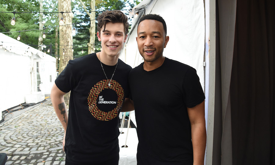 "Shawn Mendes and John Legend stopped for a photo backstage during the 2018 <em>Global Citizen Festival: Be The Generation</em> in Central Park on Sept. 29. This year, the festival, according to their website, is celebrating Nelson Mandela who ""dedicated his life to fighting for freedom and justice, for all. And in the year that Mandela would have turned 100, Global Citizens are raising their voices together so that we can honor his legacy and be the generation to end extreme poverty.""