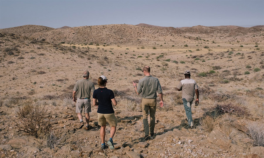 On day two of Prince William's tour, the royal joined a group in search of a black rhino, trekking through the beautiful landscape starting at 5 a.m. It took five hours, but the group eventually found the endangered rhino they'd been looking for!