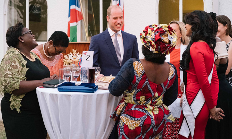 "Day one began in Namibia, where Prince William enjoyed a welcoming reception as he kicked off his tour. ""Thank you again for the warm welcome. It has been fascinating to meet people from so many different walks of Namibian life doing such important work,"" he said.